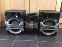 Panasonic Mini Hi-Fi System. 18 months old. Many features. 1500W output
