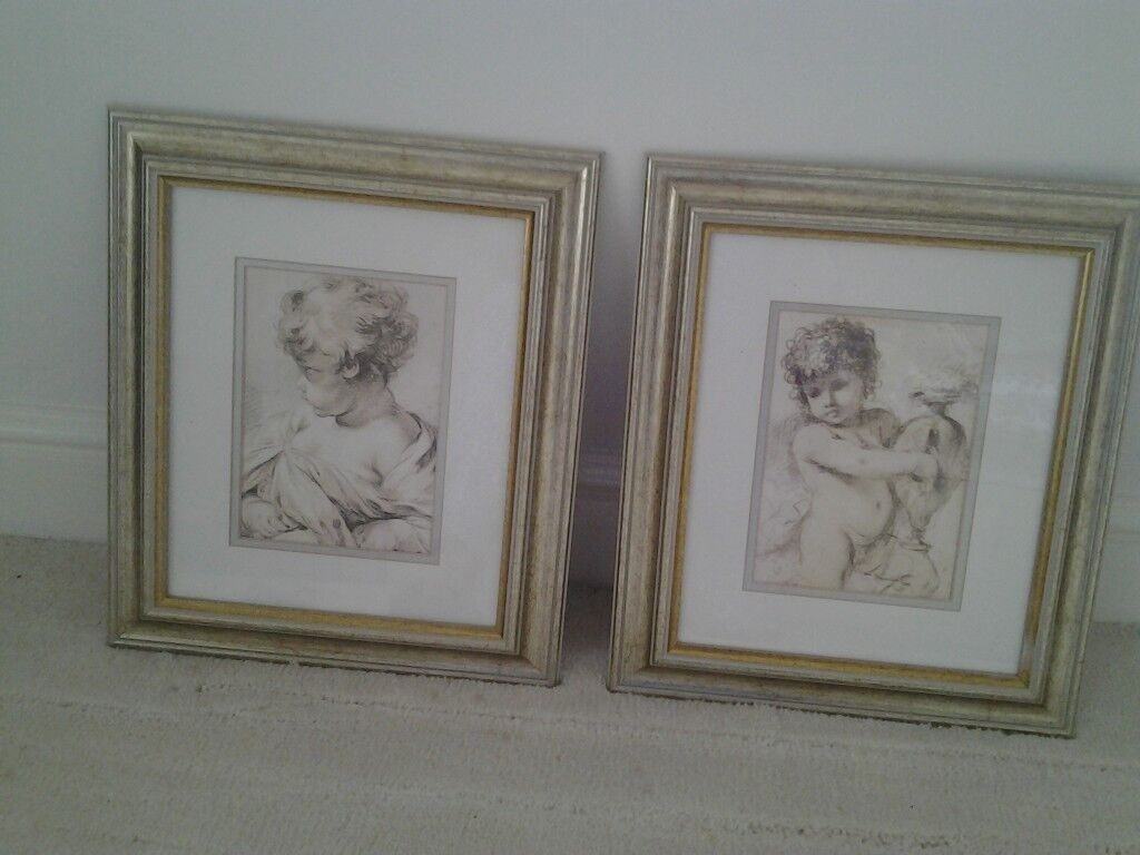 Pair of Cherub Prints