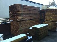 Hundreds of good Quality treated Railway sleepers,in brown or green £20 each