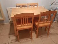 Kitchen/ Dining table and chairs
