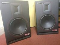 Samson Rubicon R8a, ribbon tweeter active studio monitor speakers