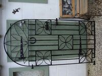 Wrought Steel Arched Gate .