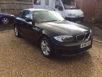 BMW 118d ES 2 door coupe. 2.0 diesel. 2012 in black. 55,000 miles