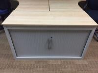 desk high tambour cupboard
