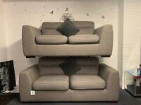 PENDING Beautiful Grey DFS Sofas 3&2 delivery 🚚 sofa suite couch furniture