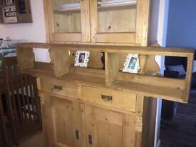 Rustic vintage wooden shelf