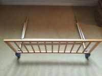 Wooden bed guard x 2 from Mothercare