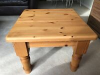 Small square pine coffee table (good condition)