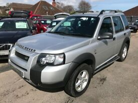2005/05 LAND ROVER FREELANDER 2.0 TD4 SE 5 DR SILVER,HALF LEATHER HEATED FRONT SEATS,GOOD SPEC