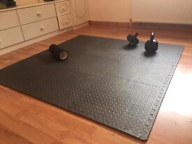 Black interlocking Mats for gym