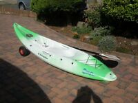 Perception Scooter Sit on Kayak Excellent Condition, with Paddle, Trolley & Seat/Back Rest