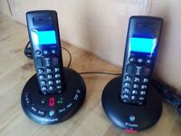 BT GRAPHITE 2500 TWIN CORDLESS PHONE WITH ANSWERING MACHINE