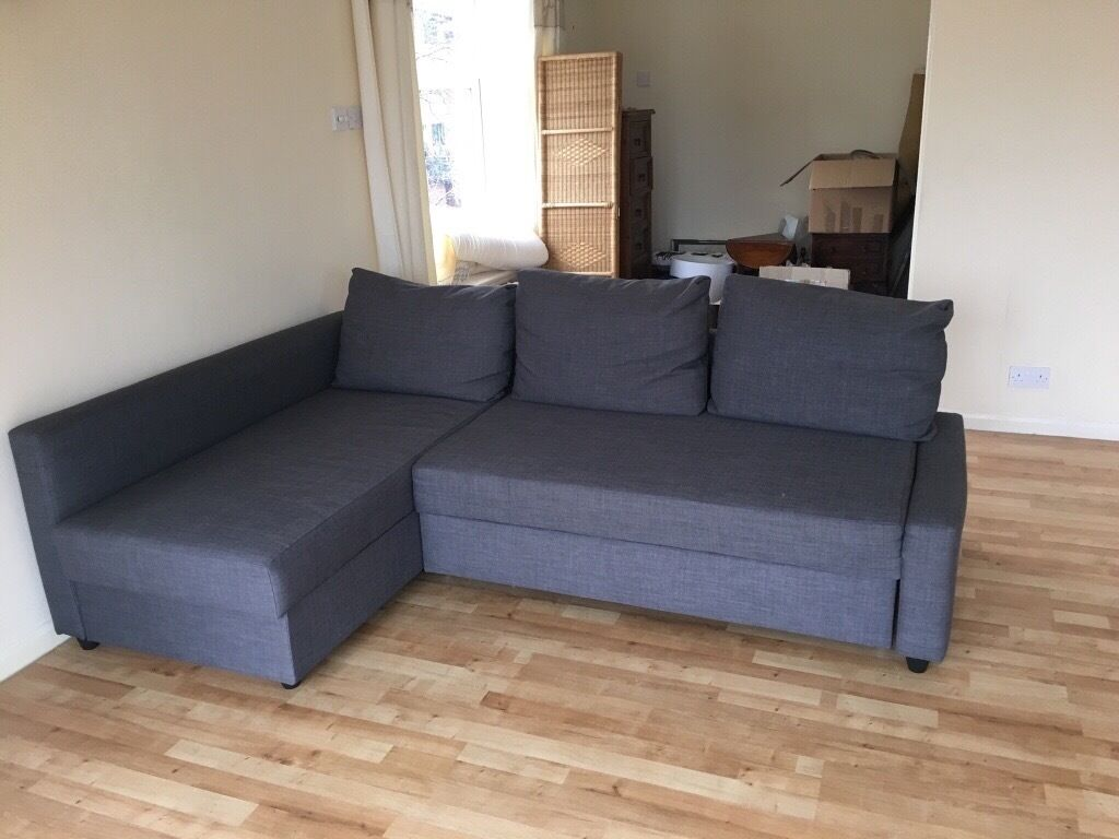 L Shaped Grey Sofa Pulls Out Into A Double Bed Bought