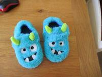 Monster Toddler Slippers Size 7