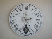 Antiquites French Chic Large Wall Clock EXCELLENT AS NEW CONDITION Bargain £10