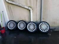 "Irmscher 5 stud 18"" alloys with tyre's"