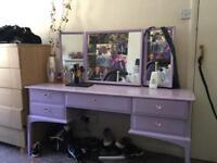 Dresser with stool