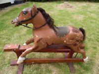 victorian oak rocking horse
