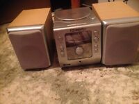 CD player and speakers