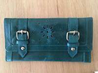 Green leather ASOS purse brand new