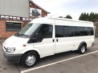 FORD TRANSIT LWB TWIN WHEEL 17 SEATER MINIBUS, 2004/54 PLATE WITH ULTRA LOW MILEAGE.