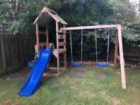 Swing slide climbing frame
