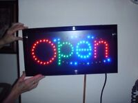 neon sign OPEN nice colours