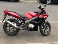 2013 Kymco KR SPORT 125CC motorbike for sale, may swap or px for bigger bike