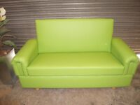 Green Faux Leather Sofabed