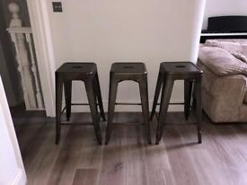 Designer Tolix style bar stools