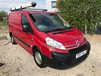 New shape 2007 Citroen dispatch van NEW MOT 3 way loader 2 side doors - roof rack - peugeot expert