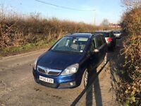 Vauxhall zafira 1.8 petrol automatic
