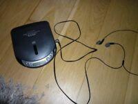 Aiwa Portable CD player and earphones