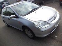 2001 Honda Civic 1.6 Petrol 5 Door HatchAback, Mileage 90K, Comes with 5 Months MOT