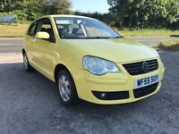 VOLKSWAGEN POLO S 55 1.2 3DR 2005 YELLOW LOW MILES FSH