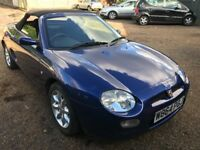 MG MGF 1796cc Petrol 5 speed manual 2 door Convertible W Reg 14/07/2000 Blue