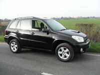 2005 TOYOTA RAV4 XTS D4D 2 LITRE TURBO DIESEL BLACK LEATHER AIR CON SAT NAV FULL SERVICE HISTORY