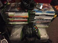 Xbox Crystal (limited edition) + 25 games + pad + leads + box