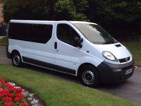 2004 Vauxhall Vivaro 2900 DTI LWB Minibus Manual 2.5 Diesel 11 Seater with Tachograph PSV