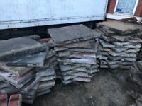 Driveway thick paving blocks used 85-90pcs approx cheap ready to collect