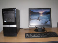 HP Dual-Core 2.80 x 2Ghz, 4gb high speed rams, 500gb, win7, MS Office , 17 LCD. full setup
