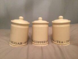 Ex dunelm, Set of three storage jars.