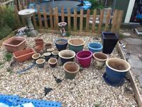Garden pots.