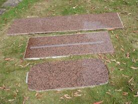 Balmoral granite worktops, 3 pieces