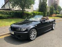 2004, E46 BMW 325ci MSPORT CONVERTIBLE AUTO, 87K, 4M MOT, FSH, KENWOOD SATNAV, 19in ALLOYS, 4 OWNER