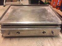 flat gas grill