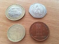 Collection of Isle of Man Pound Coins - £2 - £1 - 50p & 2p - Vintage Car Rally