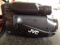 JVC GR-AX46 Compact VHS Camcorder with accessories