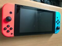 Nintendo Switch - 32gb - Neon - 2 Games - Like New