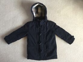 M&S Boy's Navy Duffle Coat - aged 7 to 8 yrs